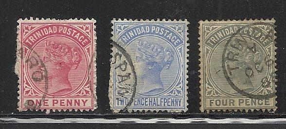 Trinidad #69-71 used Scott cv $2.00
