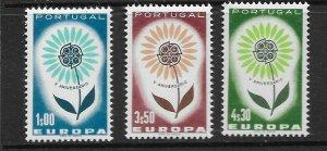 PORTUGAL - EUROPA 1964 - SCOTT 931 TO 933 - MNH
