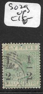 CYPRUS  (PP1309B) QV 1/2 PI SURCH SG 29A  VFU