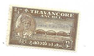 India Travancore 1914 - Scott #44