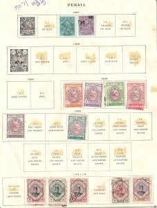 IRAN 2 ALBUM PAGES COLLECTION LOT $260 SCV FOR MARKED STAMPS ALONE