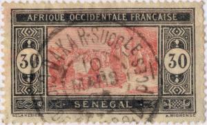 SÉNÉGAL - 1926 CAD DOUBLE CERCLE DAKAR-SuccrLE / Cion de DAKAR et DEPces /N°61