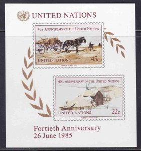 United Nations #449 (NY), 137 (G), 54 (V) Mint F-VF NH ** Andrew Wyeth Paintings