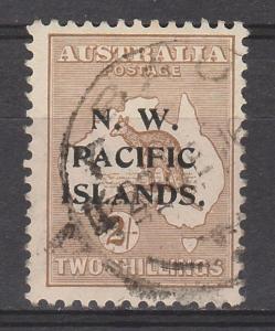 NWPI NEW GUINEA 1915 KANGAROO 2/- 2ND WMK USED