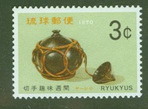 RYUKYU Scott 194 MNH** Sake Flask stamp 1970
