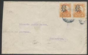 MEXICO 1915 cover, monogram opts, to Chihuahua.............................50485