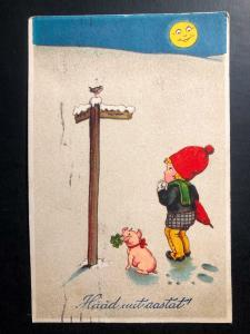 1927 Tarntu Estonia Picture Postcard cover to Aegviidu Happy New Year