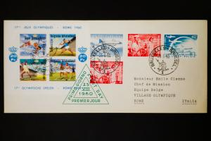 Rome Olympics 1960 Stamped Cover