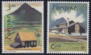 Faroe Islands 205-206 MNH (1990)