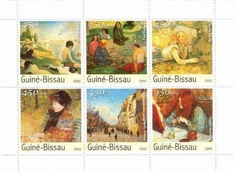 Guinea-Bissau - Orsay Museum Art 6 Stamp Sheet - GB3205