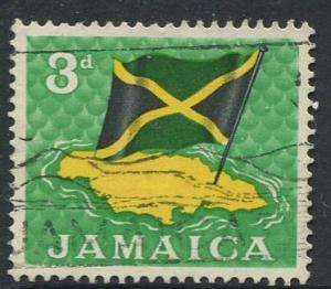 Jamaica -Scott 221 - Definitive Issue -1964 - Used - Single 3p Stamp