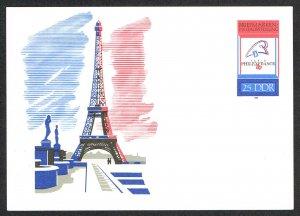 Germany DDR Postal Card Michel P102