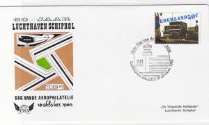 netherlands 1980 flight stamps cover ref r16210