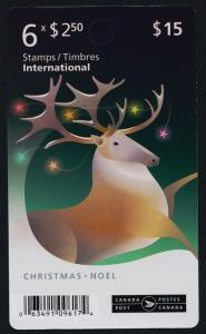 Canada 3049a Booklet MNH Christmas, Reindeer