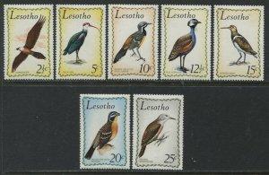Lesotho Bird set of 7 mint o.g. hinged