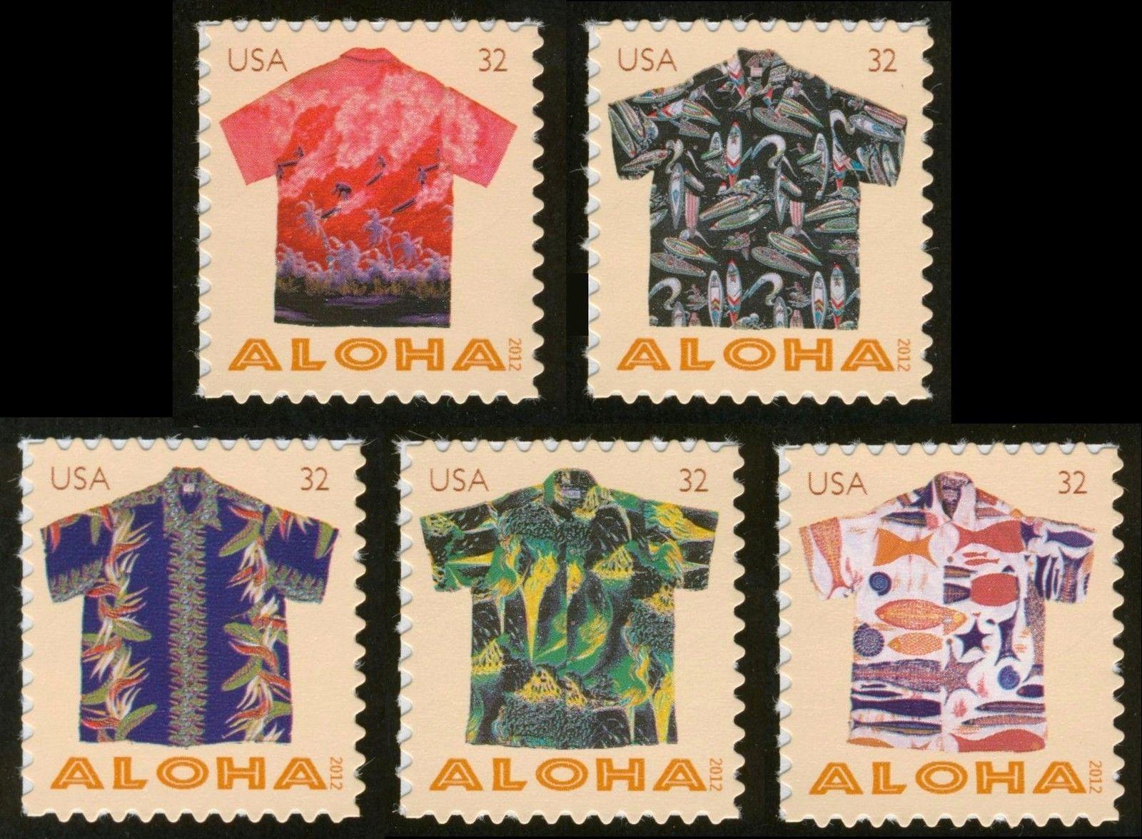 c33f61da 4592-4596 32c Aloha Shirts, Singles, Mint **ANY 4=FREE SHIPPING ...