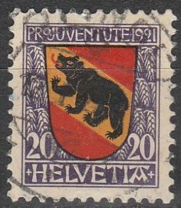 Switzerland #B19 F-VF Used  CV $3.50  (D2039)