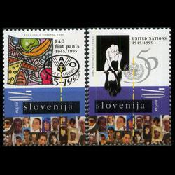 SLOVENIA 1995 - Scott# 239-40 UN 50th. Set of 2 NH