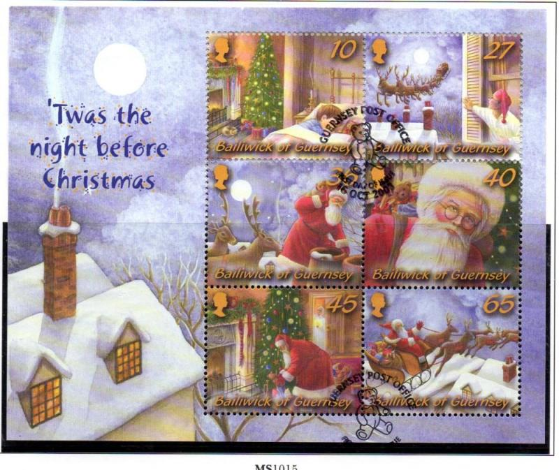 Guernsey Sc 815a 2003 Christmas stamp sheet used