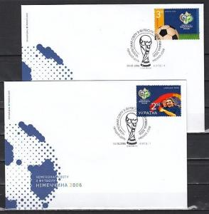 Ukraine, Scott cat. 631-632. World Cup Soccer issue on 2 First day covers.