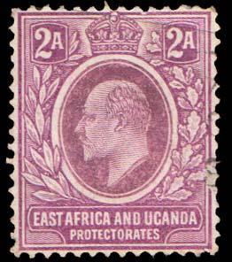 East Africa and Uganda Scott 19 Used.