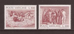 Vatican scott #590-91 m/nh stock #N791
