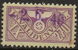 Stamp Germany Revenue WWII Fascism War War Era Medical 270 IX Invalid Used