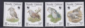 New Caledonia # 798-801, WWF - Birds, NH, 1/2 Cat.