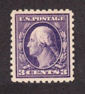 US 464 3c Washington Mint XF-Superb OG VLH