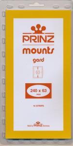 Prinz Scott Stamp Mount 63/240 mm - BLACK (Pack of 10) (63x240 63mm)  STRIP #939