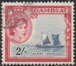 Gambia 1953 2/- Barra canoe used