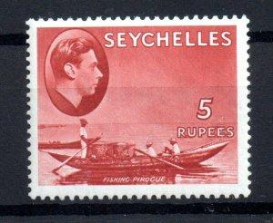Seychelles KGVI 1938 5R red mint MNH SG149 WS16597