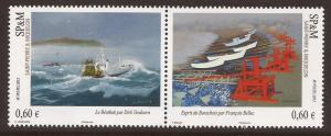2012 Saint Pierre et Miquelon - Sc 961 - Paintings of Boats
