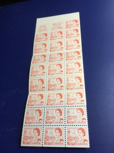 Canada #BK60a 6c Orange Pane of 25 In Complete 1968 Booklet. VF-NH Cat . $10.50