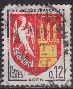 France 1093 USED 1964 Arms of Agen