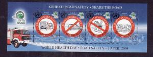 Kiribati-Sc#842e-Unused NH sheet-Road Safety-2004-