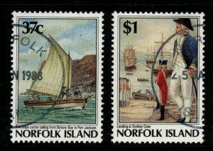 NORFOLK ISLAND SG436/7 1988 NORFOLK ISLAND SETTLEMENT (5TH ISSUE) FINE USED