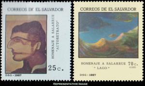 El Salvador Scott 1160-1161 Mint never hinged.