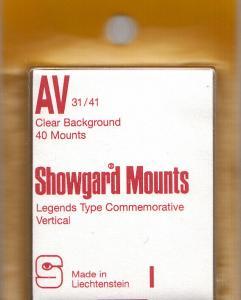 SHOWGARD CLEAR MOUNTS AV 31X41 (40) RETAIL PRICE $3.95