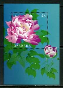 GRENADA  FLOWERS SOUVENIR SHEET  MINT NH