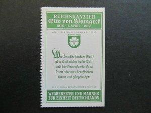 A4P5F63 Reklamemarke Otto von Bismark mnh**