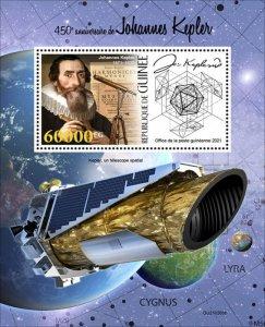 GUINEA - 2021 - Johannes Kepler - Perf Souv Sheet - Mint Never Hinged