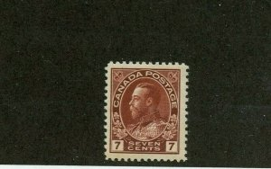 #114v diagonal line in N of CENTS Pl #8 Very LH Mint Admiral Cat $150