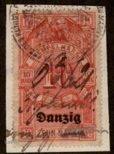 Danzig Germany Preussen Prussia 10 Mark Stempelmarke Document Revenue Stam 90866
