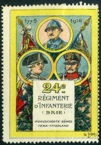 WWI France 24th Infantry Regiment (24er Régiment d'Infanterie)