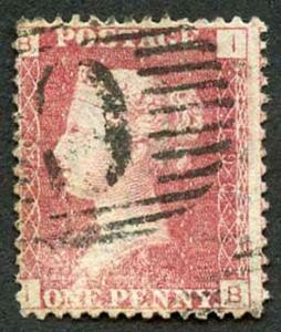 British Levant SG Z74 Penny Plate 190 (surface rub) with Constantinople C Pmk
