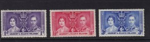 GILBERT AND ELLICE ISLANDS 1937 Coronation LHM