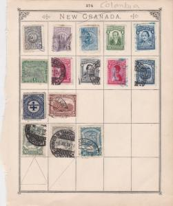 Colombia Stamps on Album Page ref  R 18839