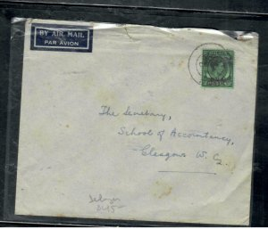 MALAYA BMA  COVER (P0409B)   KGVI 50C  A/M COVER TO  ENGLAND