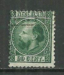 1867 Netherlands #10  20c King William III used.